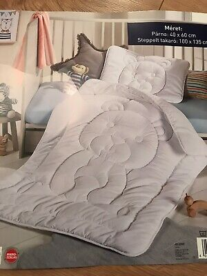 BNWT Microfibre Quilt& Pillow, Duvet 135x100cm Cot Bed Bedding Set, Anti Allergy
