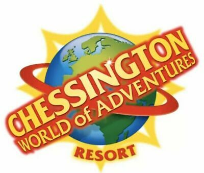 2 X Chessington World Of Adventure Tickets MONDAY 13th July 2020 SUMMER HOLIDAYS