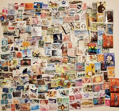 World, Collection of 1000 ALL different worldwide stamps, off paper mint & used