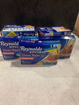13 Box Reynolds Kitchens Oven Bags 26bags Turkey Size Meats & Poultry 8-24 lbs