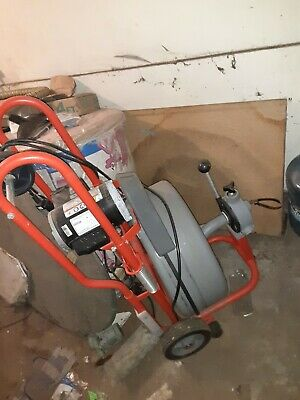 "Ridgid k 750 drum machine with 5/8"" C-24 Cable"