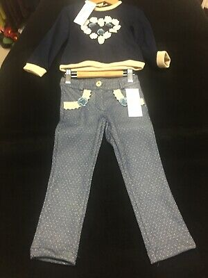 Girls Kids Pants & Long Sleeve Top Set Of 2 Sizes Available 2 To 6