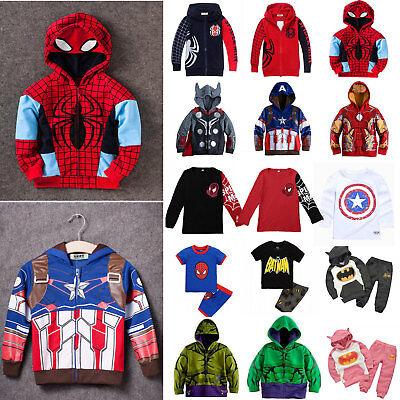 Baby Kids Boys Hooded Hoodies Sweatshirt Jacket Coat Outwear Top Casual Clothes