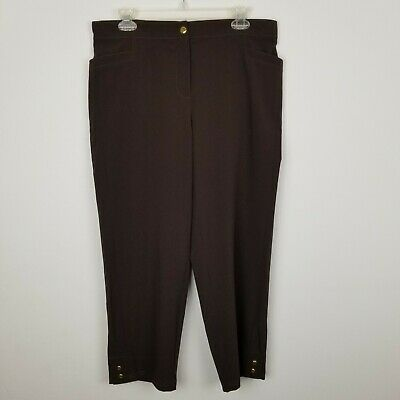 Zenergy By Chico's Womens Small Activewear Crop Pants Brown