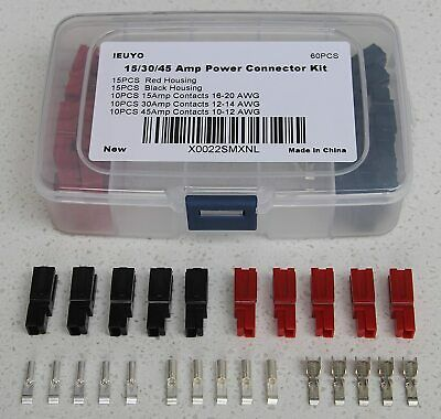 15/30/45 Amp Anderson Powerpole Connectors Assortment Kit Quick Disconne- 60 Pcs