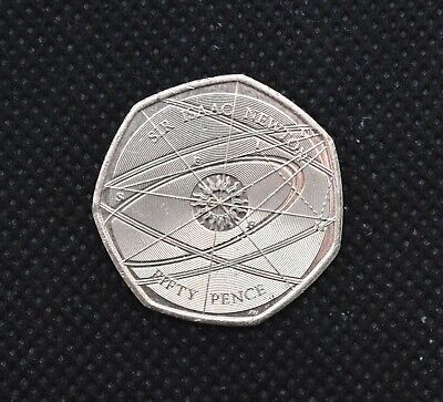 50p commemorative and collectable circulated coins SIR ISAAC NEWTON
