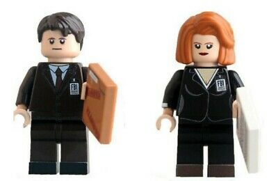 G3 - X-Files Mulder Scully - Custom Minifigures Gashapon LEGO - Nuovo in Blister