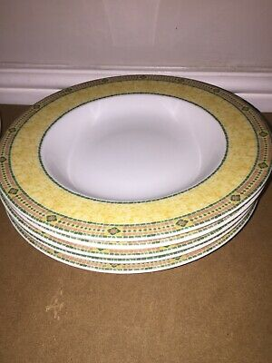 """Wedgwood Home Florence Pasta/Soup Bowl 9"""" X5 New"""