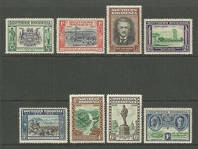 1940 Southern Rhodesia Golden Jubilee Stamp Set Mint Hinged