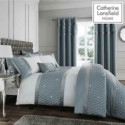 Catherine Lansfield Sequins Cer, Catherine Lansfield Blue Newquay Stripe Bedding Set Double