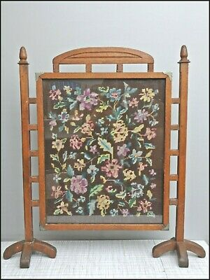 Antique Firescreen, Arts And Crafts, Glasgow, Art Nouveau Oak Screen