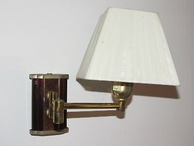 05E37 Antique Lamp Vintage Bracket Wall Position Articulated Reading Light