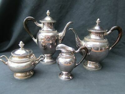 Antique 4 parts Coffee and tea set - .835 silver - Europe