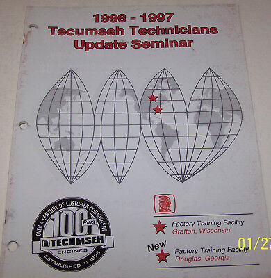 Tecumseh Technicians 1996-1997 Factory Update Seminar Manual