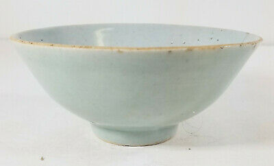 Antique Chinese Provincial Celadon Glazed Export Porcelain Bowl Reign Mark