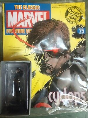 OFFICIAL MARVEL FIGURE COLLECTION ISSUE 25 CYCLOPS EAGLEMOSS FIGURINE MAGAZINE