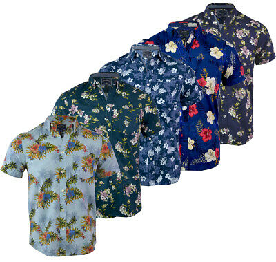 Tokyo Laundry Mens Will Hawaiian Faded Floral T Shirt Cotton Tropical V Neck Top