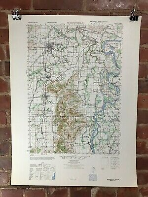 McMinnville Oregon 1947 Map Vintage Original Large USGS Topographic Army Map