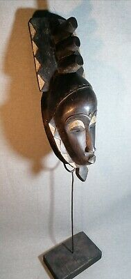 Mask African Carved Wood Tribal Wall Hand Vintage Art Wooden BIG  mask 1348