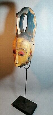 Mask African Carved Wood Tribal Wall Hand Vintage Art Wooden BIG  mask 1346