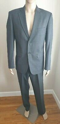 Custom Men's Dress Suit Dark Gray Regular Size 42R 34 x 32 Pants NEW