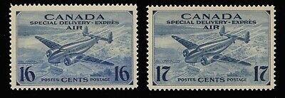 Canada #Ce1-Ce2 Mnh Og Air Mail Special Delivery Stamps F-Vf