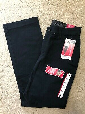 NEW Lee Comfort fit waistband stretch pants womens size 10M black straight leg