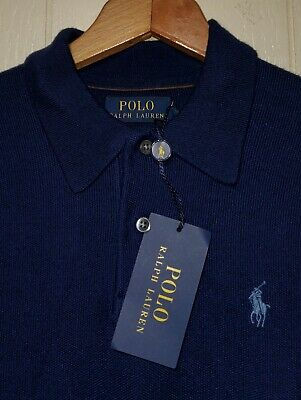 Polo Ralph Lauren Wool Silk Cashmere Long Sleeve Polo Sweater Mens X-Small NWT