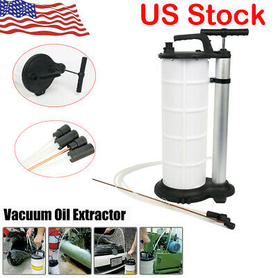9L Fluid Extractor Pump Vacuum Oil Changer Hand Operated Oil Change Extractor US