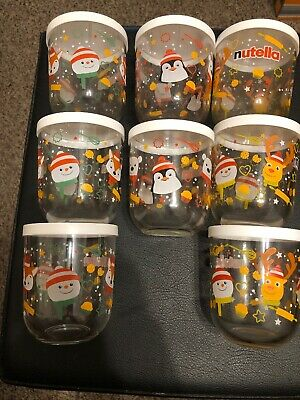 Nutella Limited Edition Christmas Glass x 8