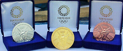 2020 Tokyo Japan Olympic Gold Silver & Bronze Commemorative Medallion Medal Coin