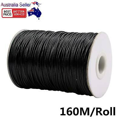 1mm 160M Jewelry Making Crafting Beading Macrame Waxed Cotton Cord Thread DIY