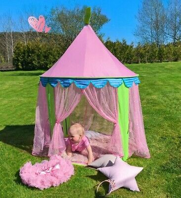 Kids Play Tent Children Fairy Princess Boys Girls Castle Playhouse Pink Tents UK