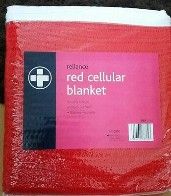 cellular blanket red reliance first aid medical supplies 200 cm x 150 cm