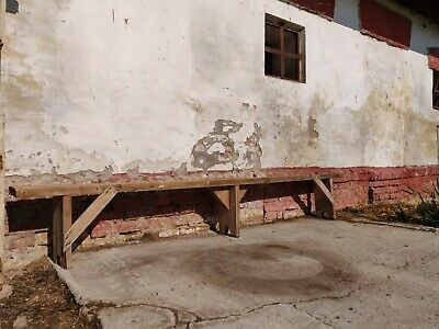 Old Wooden Vintage School Garden Bench Rustic Decor Chairs Stool Picnic