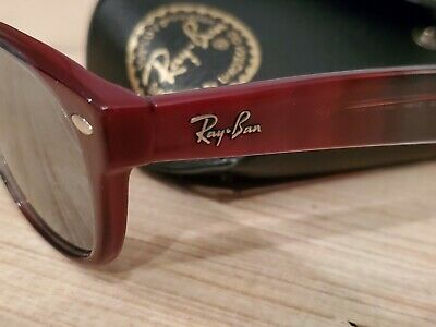 Ray Ban RB 5184 5517 Burgundy Sunglasses Tinted Lens 100% UV Protection w. Case