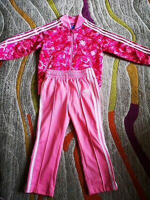 Girls Adidas Tracksuit age 2-3 years 98 cm butterfly original