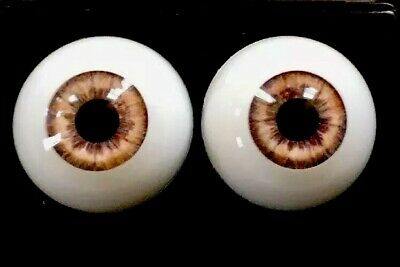 """24mm Lavender Round """"Real Eyes"""" Made In USA"""
