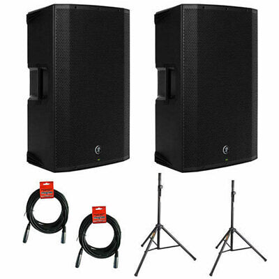 """(2) Mackie Thump12BST 1300W 12"""" Loudspeaker w/ (2) Stand & (2) Cable"""