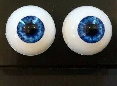 """18mm Blue Round """"Real Eyes"""" Made In USA"""