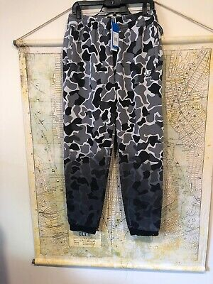 Adidas Men's Originals Camouflage Dip-Dyed Pants Gray Camo/Black M-size