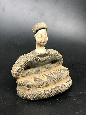 Ancient Rare Unique old Bactrian Stone Seated Statue 100 BC