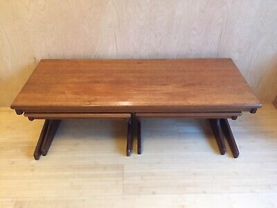 Teak nest of tables coffee table Mid century G Plan style
