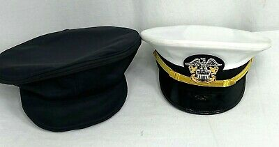 US Navy Officers Dress Hat & Storage Cover
