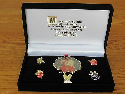 Elvis Presley Christmas Celebrate The Spirit of Rock & Roll  6 Pin Boxed Set HRC