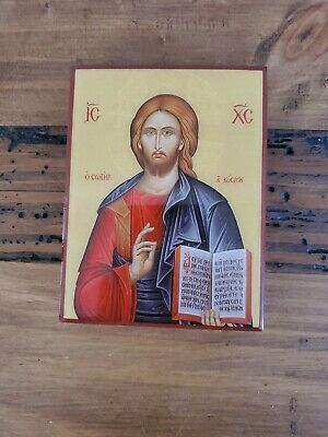 Religious icon Jesus Evlogon Greek byzantine orthodox