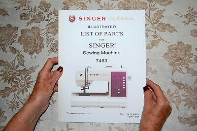 Illustrated Parts Manual to Service Singer 7463 Sewing Machines