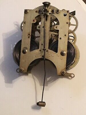CLOCK ANSONIA MOVEMENT 8 Day USA spares repairs