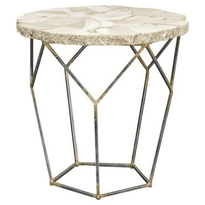 PALECEK FOSSILIZED CLAM SHELL END TABLE...FREE SHIPING coffee book what ever for