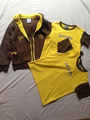 "Brownies Uniform bundle 2 Short Sleeve T-shirt Size 28"" 30"" & Hoodie 32"" Good CN"